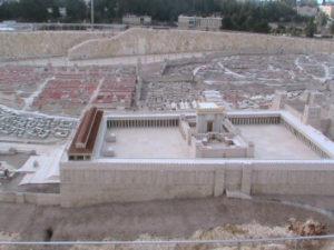 Maquete no Segundo Templo, em exposição no Museu de Israel