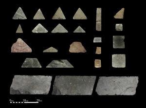 Fragmentos de mosaicos Opus Sectile dos Tribunais do Monte do Templo