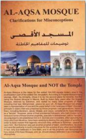 Um folheto publicado em 2014 e distribuído aos turistas no Monte do Templo
